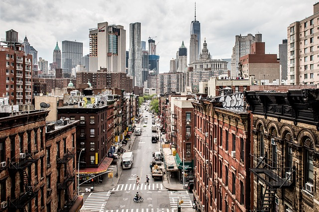 View of NYC street